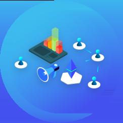 Zukunftspioniere Online Kongress - Lebensbereich Berufung Grafik mit blauem Hintergrund und Symbolen