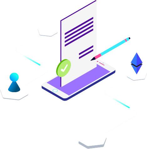 Zukunftspioniere Grafik - Eintragen und Teilnehmen Formular mit Stift auf Handy