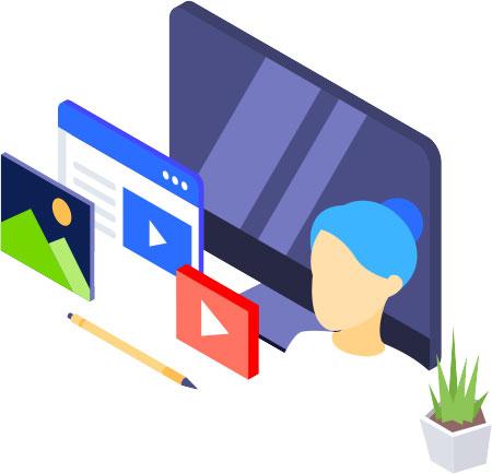 Zukunftspioniere Online Kongress für Persönlichkeitsentwicklung - Grafik mit Bildschirm digital